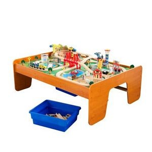 KidKraft Ride Around Town Train Set & Table, Honey